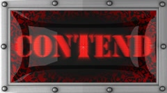 contend on led - stock footage