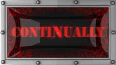 continually on led - stock footage