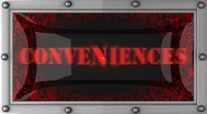 Stock Video Footage of conveniences on led