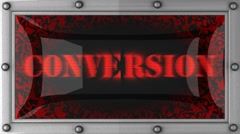 conversion on led - stock footage