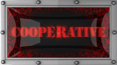 cooperative on led - stock footage