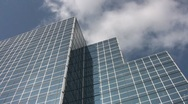 Blue office tower. Stock Footage