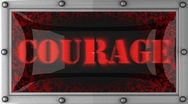 Stock Video Footage of courage on led