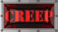 Stock Video Footage of creep on led