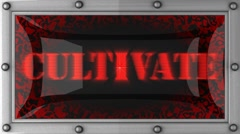 cultivate on led - stock footage