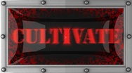 Cultivate on led Stock Footage
