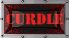Curdle on led Stock Footage