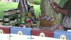 Stock Video Footage of Displaying crafts at the fair. (1 of 2)