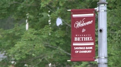 Welcome to Bethel sign Stock Footage