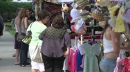Stock Video Footage of two women shopping at Craft Fair.