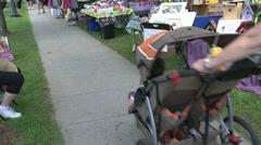 People walking down sidewalk at Craft Fair. (4 of 4) Stock Footage