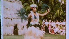 HULA DANCER GIRL Hawaiian Dancing 1970s Vintage Film Retro Home Movie 604 Stock Footage