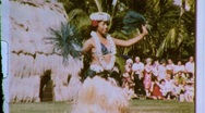 Stock Video Footage of HULA DANCER GIRL Hawaiian Dancing 1970s (Vintage Film Retro Home Movie) 604