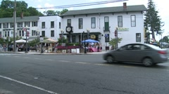 Driving by a Craft Fair. - stock footage