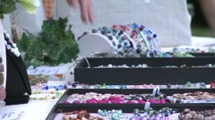 Shoppers at a Craft Fair. (1 of 4) - stock footage