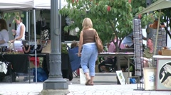 Shoppers at a Craft Fair. (2 of 4) - stock footage
