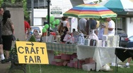 Stock Video Footage of Shoppers at a Craft Fair. (4 of 4)