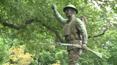 Monument of a war hero. Stock Footage