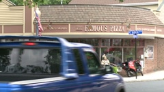 Pizza shop down town. Stock Footage