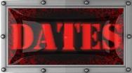 Dates on led Stock Footage