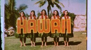 Stock Video Footage of Hawaiian Hula Girls Dancers 1960s (Vintage Film Retro Home Movie) 606