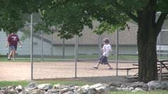 Elementary baseball practice. (1 of 4) - stock footage