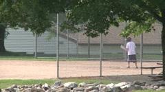 Elementary baseball practice. (2 of 4) - stock footage
