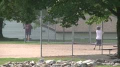Elementary baseball practice. (4 of 4) - stock footage