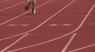 Stock Video Footage of High school track. (2 of 5)