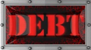 Debt on led Stock Footage