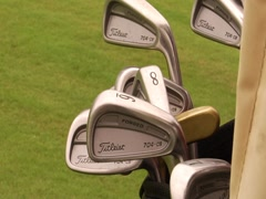 Golf Clubs 2 Stock Footage