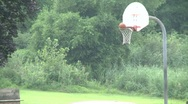Stock Video Footage of Shooting basketball at a park. (2 of 2)