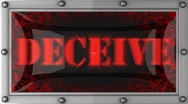 Deceive on led Stock Footage