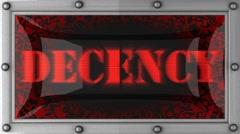 Decency on led Stock Footage