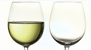 Red and white wine Stock Footage