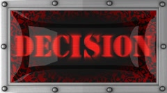 Stock Video Footage of decision on led