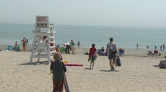 Lifeguard stand at the beach. (3 of34) Stock Footage