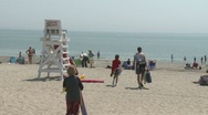 Stock Video Footage of Lifeguard stand at the beach. (3 of34)