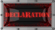 Declaration on led Stock Footage