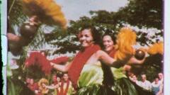 Hawaiian Hula Girls Women Dance Dancers Hawaii 1960s Vintage Film Home Movie 607 Stock Footage