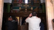 Stock Video Footage of man takes picture of interior church