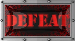 defeat on led - stock footage