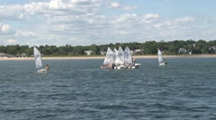 A group of sail boats. Stock Footage