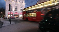 Traffic on Piccadilly Circus in London Stock Footage