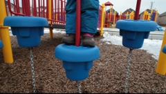 On playground Stock Footage
