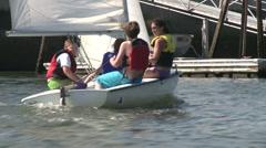 Sailboat tacking. - stock footage