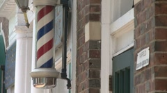 Barber shop sign Stock Footage