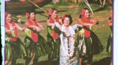 Hawaiian Women Hula Dance Dancers Chorus Line 1960s Vintage Film Home Movie 608 Stock Footage