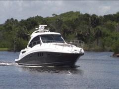 Boat on Intercoastal Stock Footage