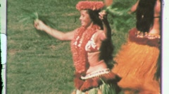 Hawaiian Hula GIRLS Belly DANCING Dancer 1960s Vintage Film 8mm Home Movie 609 Stock Footage